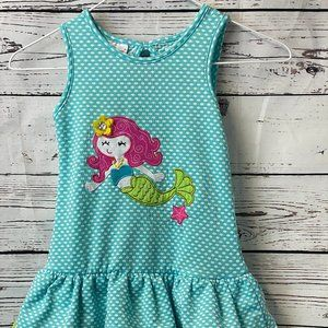 Nannette girl dress size 4 Mermaid turquoise